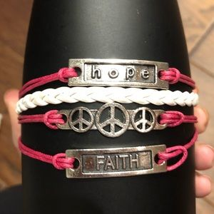 Jewelry - Hope Leather Charm Bracelet